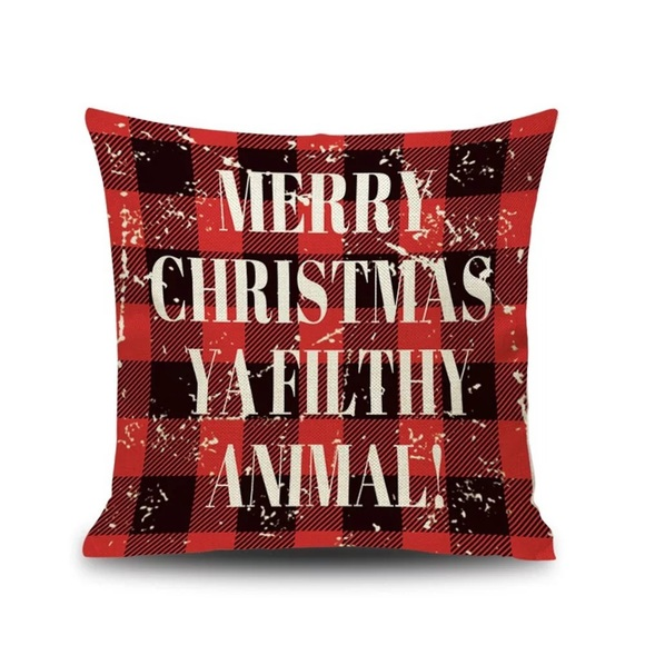 Other - 2 LEFT❗️Merry Christmas Filthy Animal Plaid Pillow